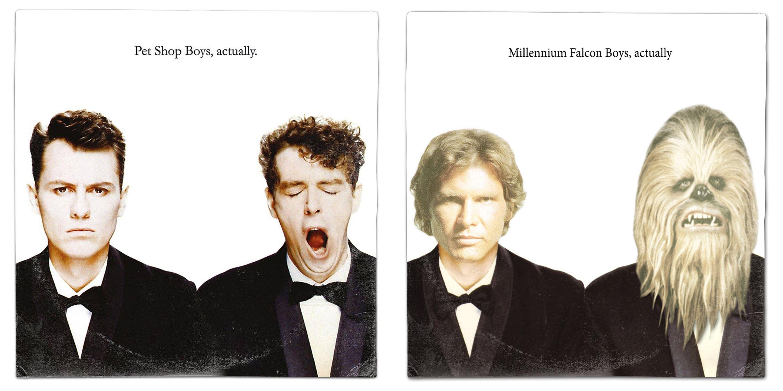 Star Wars Han Solo Chewbacca Pet Shop Boys Actually Album