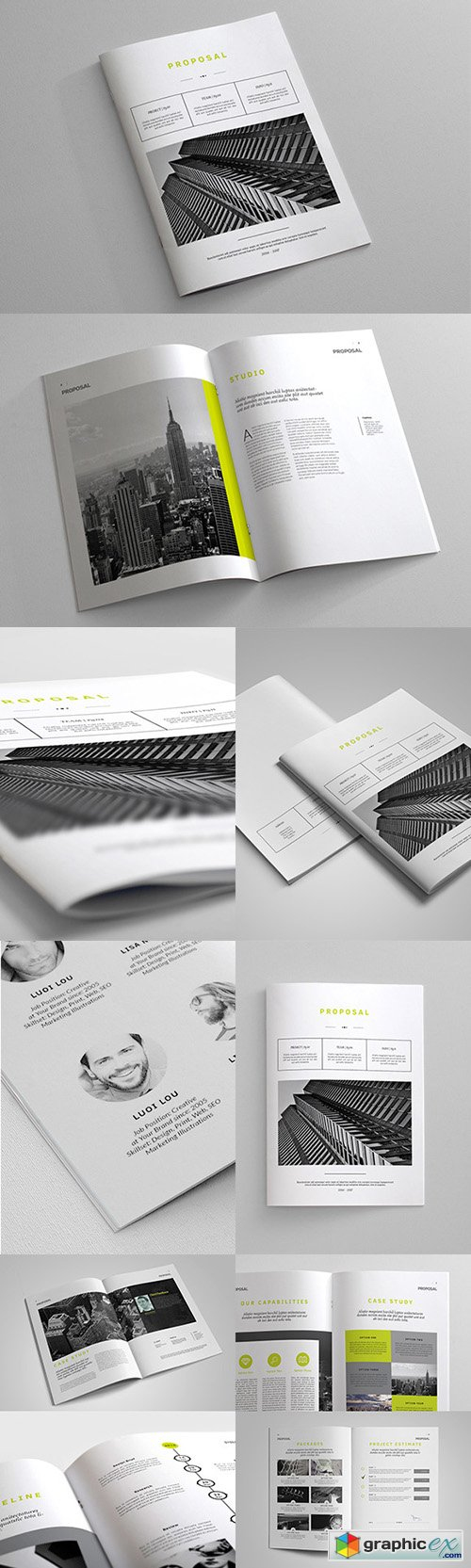 Indesign Business Proposal Template | gráfico | Pinterest
