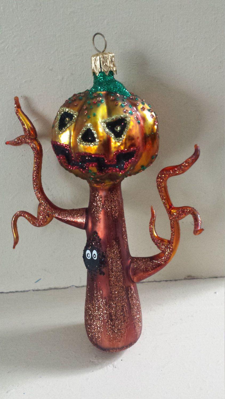 Halloween Blown Glass Larry Fraga Haunted Tree Christmas