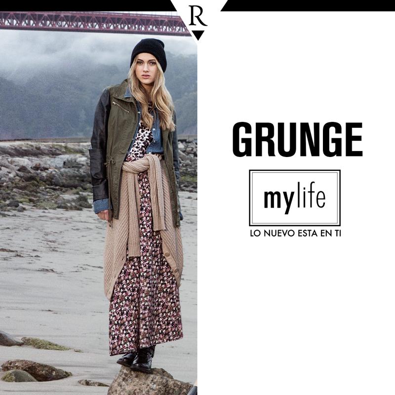 Desenfadada y ultra casual, la tendencia #Grunge no pasa desapercibida. Si conoces las claves para combinarla podrás sacarle mucho partido.   ¡Te enseñamos cómo hacerlo en www.mylife.com.pe! #MyLife #MeFascinaRipley