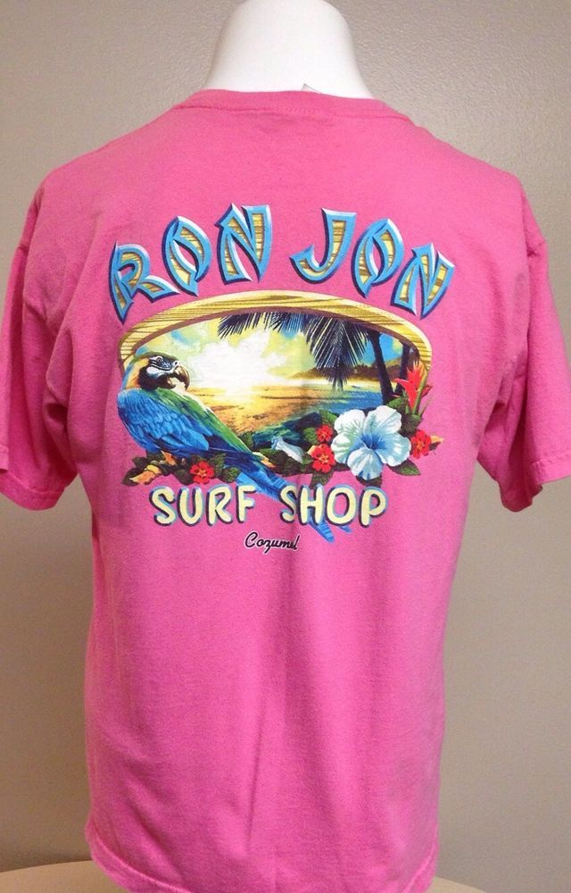 Ron Jon Surf Shop Womens Pink Short Sleeve X-Large Tee T-Shirt XL ...