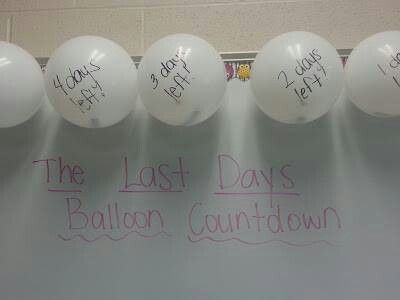 Idea for the end of the year - balloon popping!