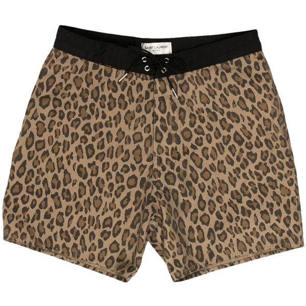 Leopard Pattern Animal Wild Animal Boys Beach Pants Board Shorts Jogging Fashion Swim Trunks
