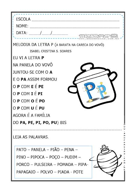 Pin Em Atividades De Alfabetizacao