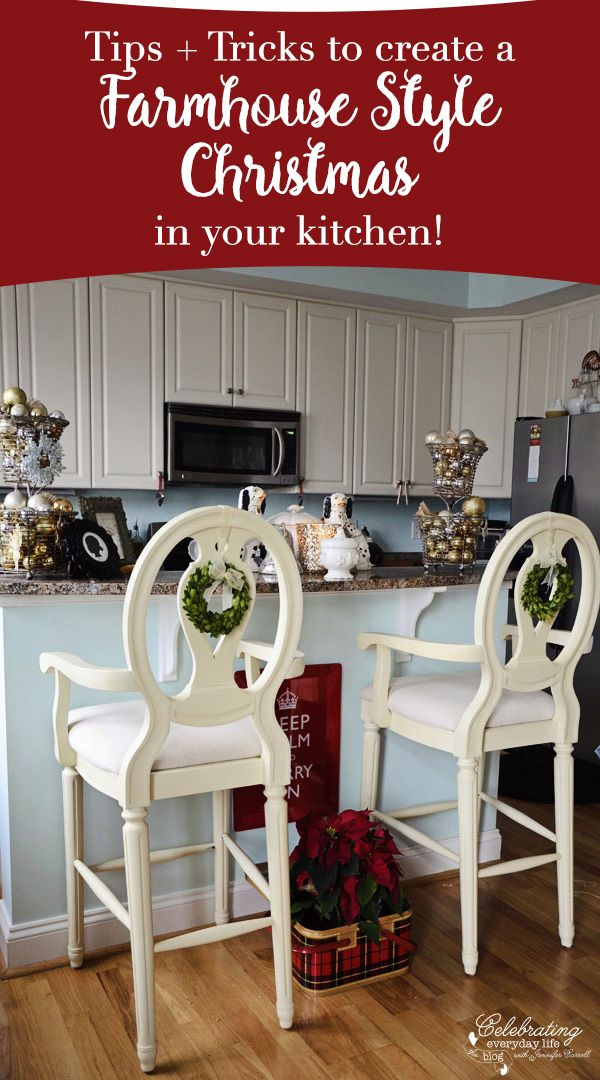 If Everyone Gathers In The Kitchen, Then Lets Make It Shine With Farmhouse  Style Christmas Home Design Ideas