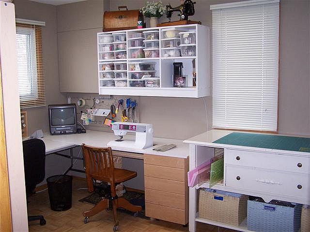 home office sewing room arrangement | Office Designs: Wonderful ...
