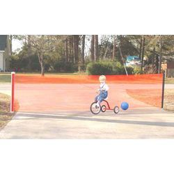 NEW Kidkusion Non Retractable Driveway Safety Net Orange FREE SHIPPING