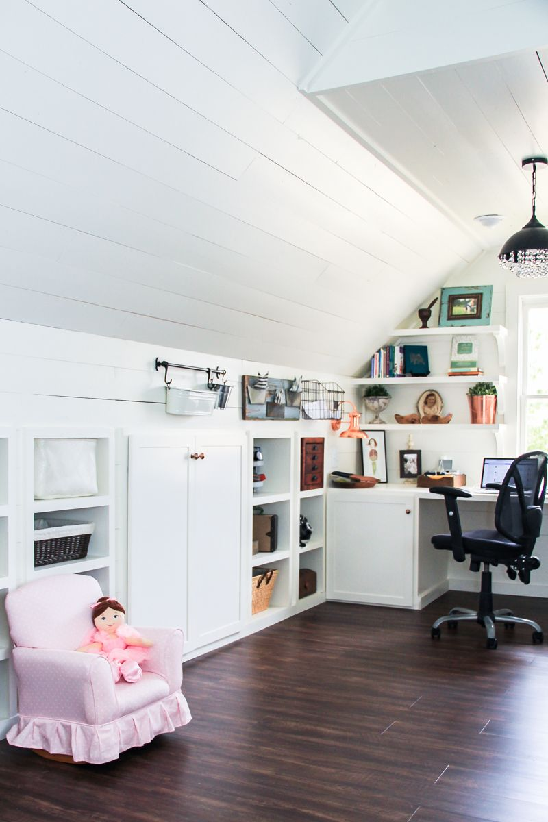 Craft Room Lighting Ideas. Renovated Attic Playroom  Office Craft Room By  Unskinny Boppy