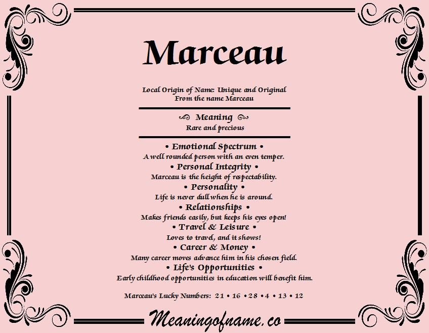 Marceau, Maille | Names with meaning