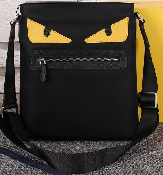 a39a8d41356 Fendi Bag Bugs Messenger Bag Nylon Fabric FD95395 Black | Fendi ...