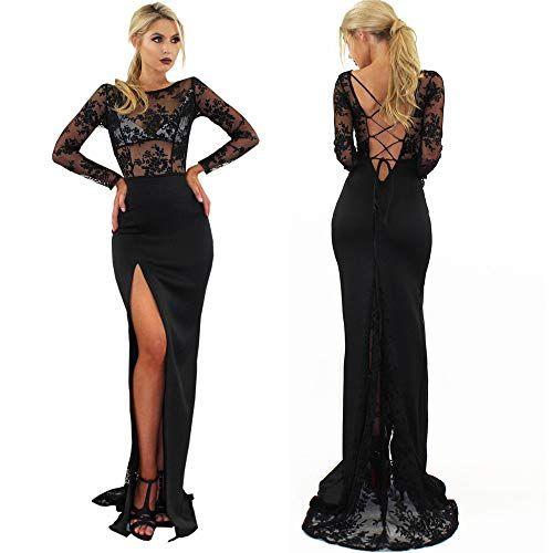 on sale cac68 8c29a ODJOY-FAN-Vestito da Abito Ballo di Promenade Cocktail con ...