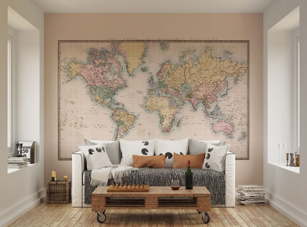 ohpopsi Historic World Map Wall Mural • Available in 2