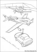 Planes Coloring Pages On Book