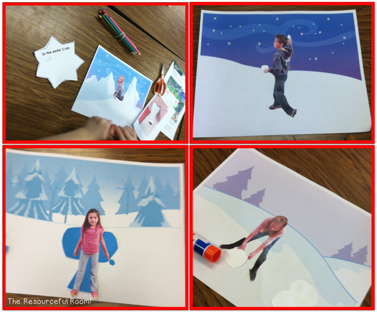 Vivid Winter Verb Activity
