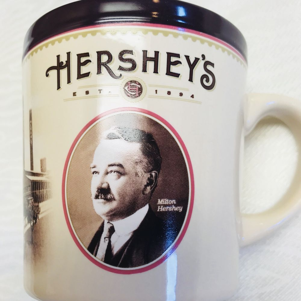 Hershey's Where It All Began Coffee Mug 16 Oz Brown