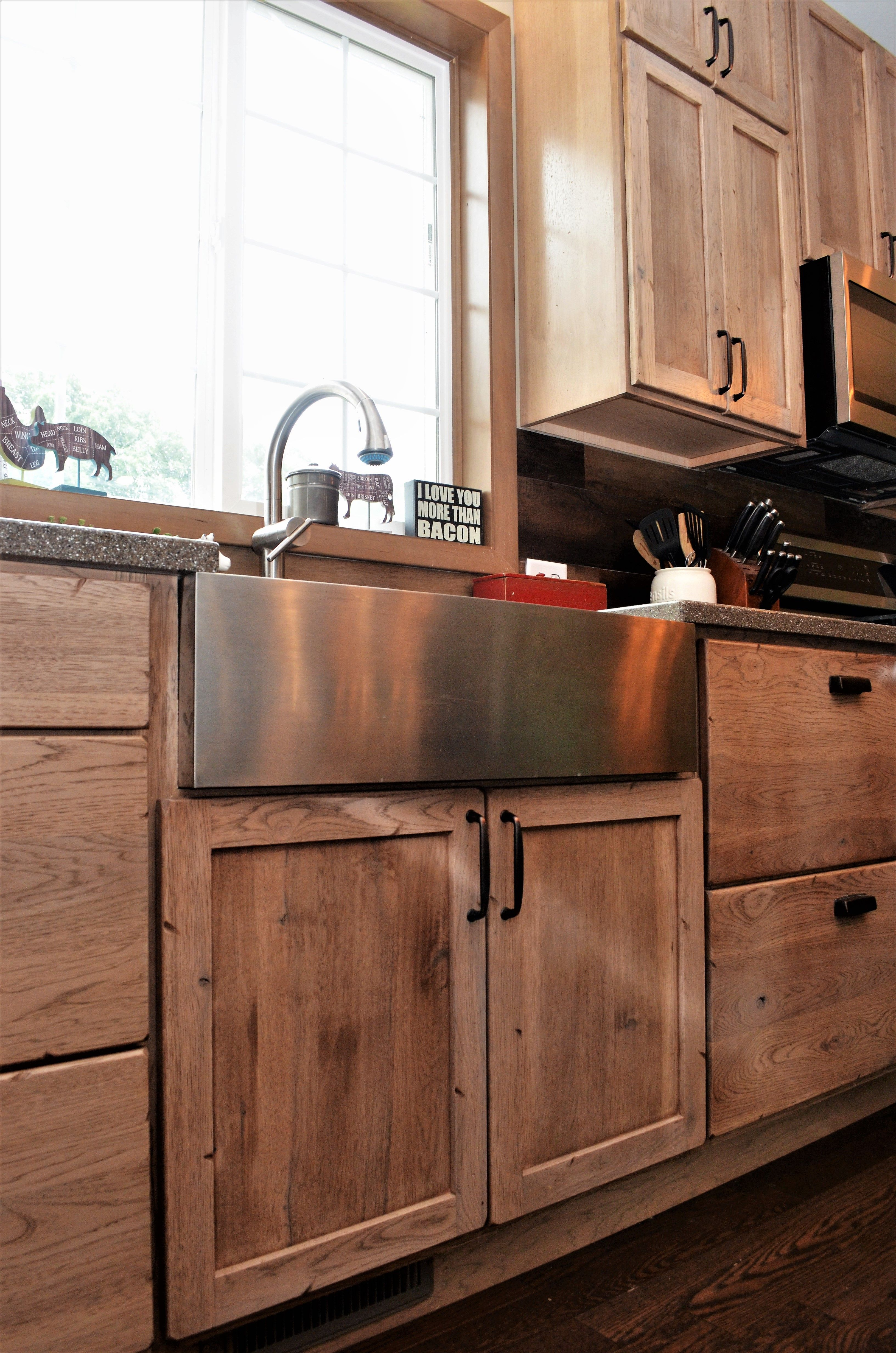 Bailey's Cabinets, Nantucket, Single Bowl Stainless Steel ...