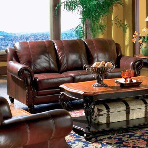 Found It At Wayfair Harvard Leather Sofa Couch And Loveseat Set Burgundy Leather Sofa Genuine Leather Sofa