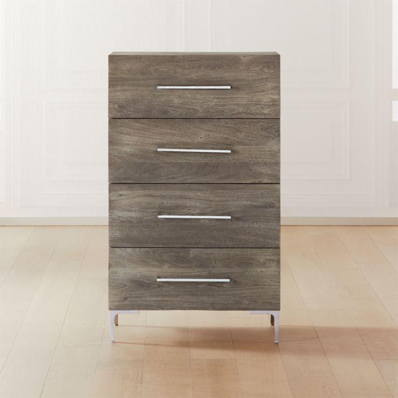 Best Link Grey Wash Acacia Tall Dresser Tall Dresser Modern 640 x 480