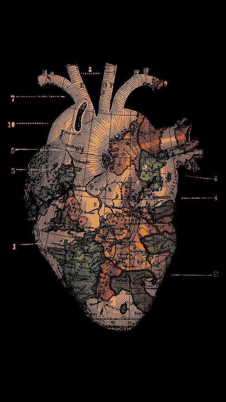 Adventurous heart - #Adventurous #heart #kaminzimmer #iphonewallpaper