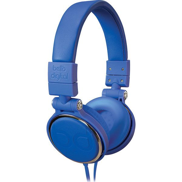 Bell'O Digital 40mm Driver Over The Head Headphones ($29) ❤ liked on Polyvore featuring bags, blue, business accessories, electronics, flat bags, blue bag, padded bag and cable bag