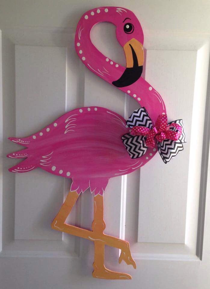 Hand Painted Flamingo By Kjskutouts On Etsy Https Www