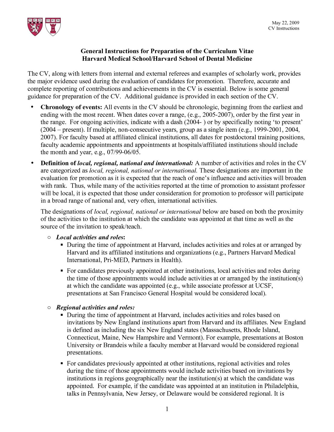 Harvard Resume Template 2015 Resume examples
