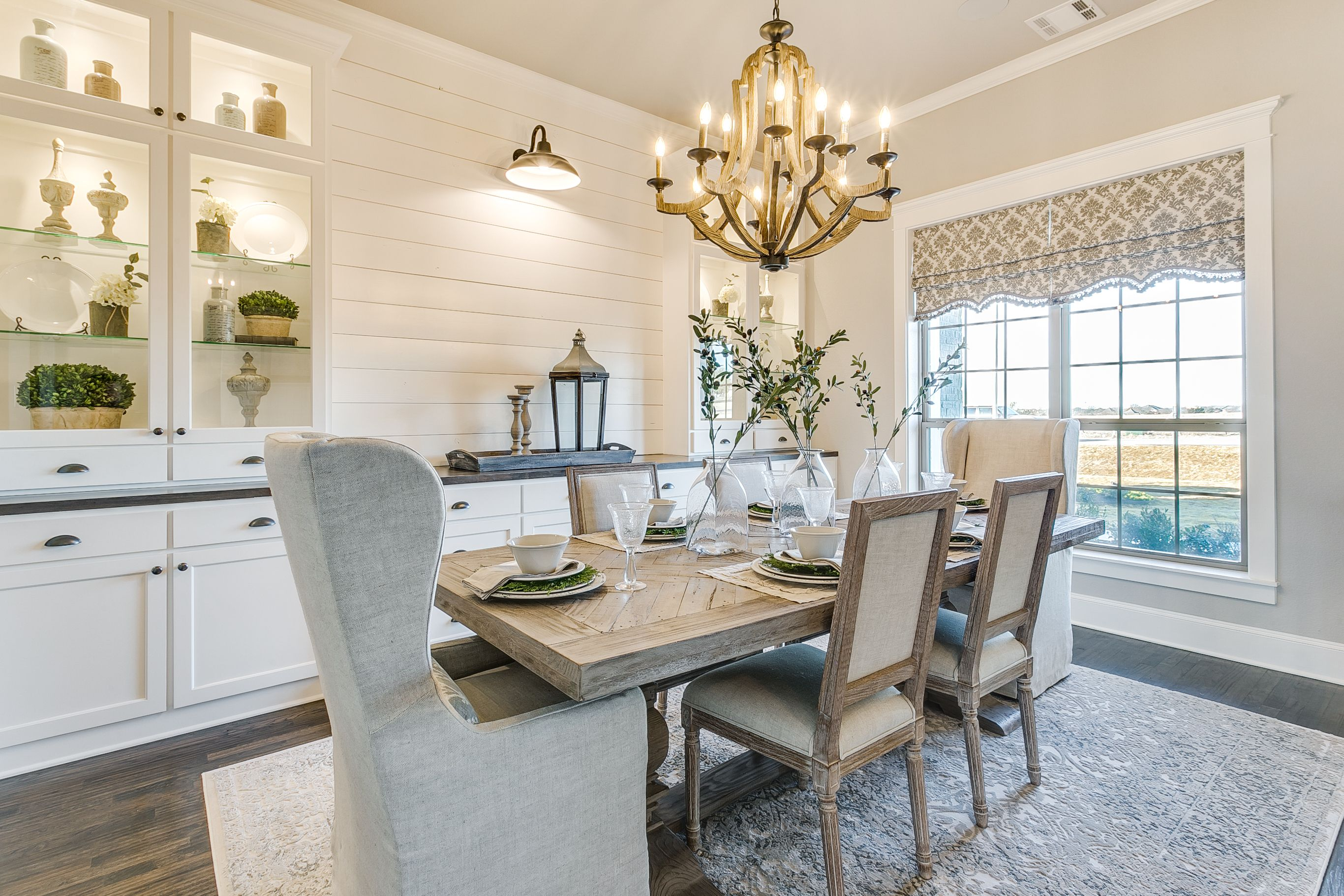 Farmhouse dining room legacy estates john houston custom