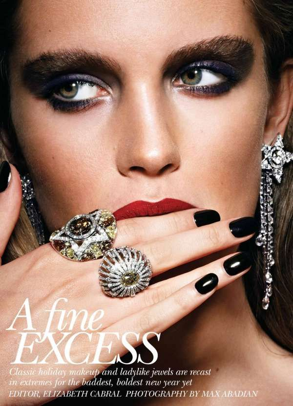 Photo of Holiday Jewelry Editorials Flare Magazine 'A Fine Excess'