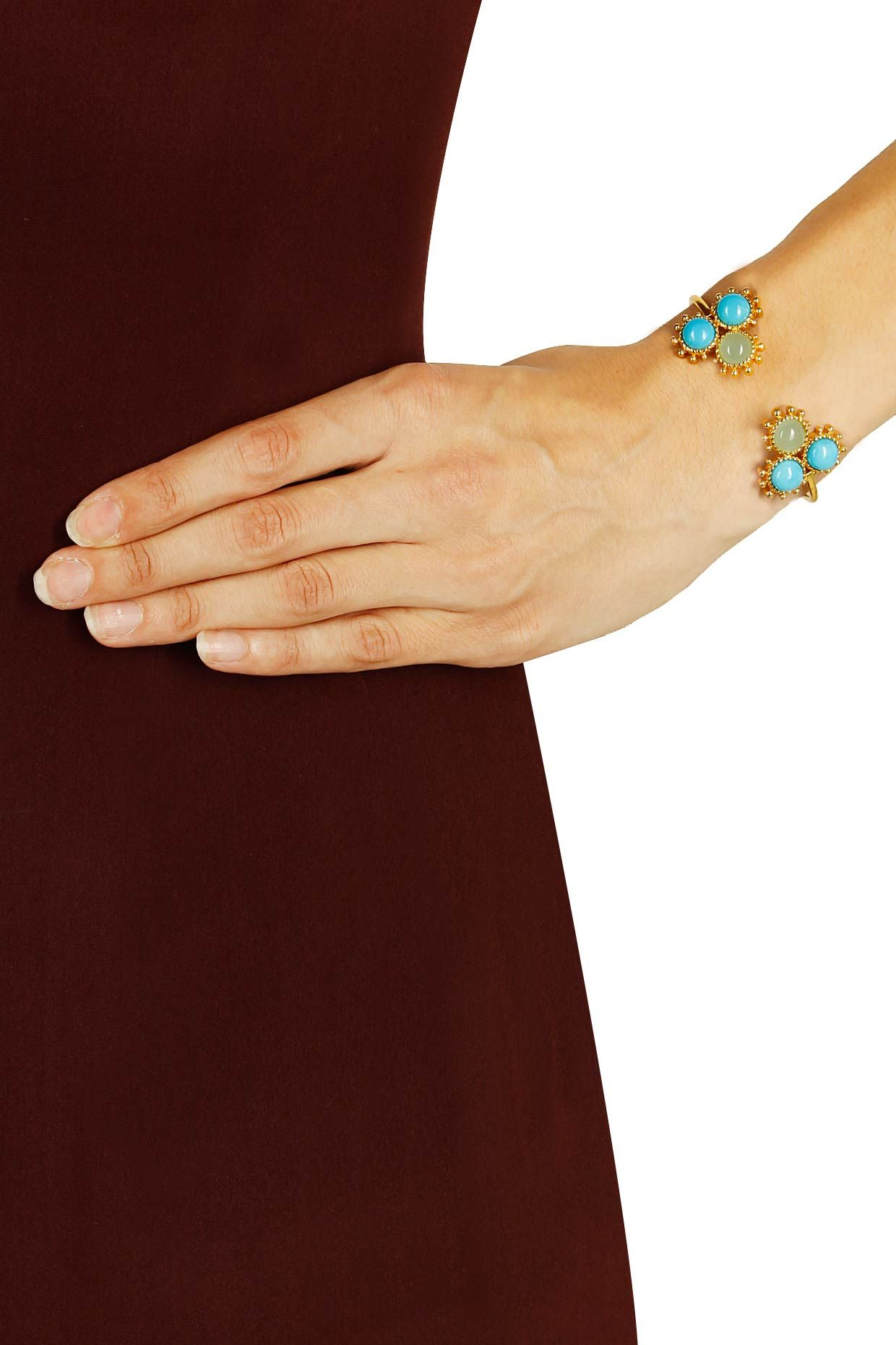 Gold plated marina cuff by Pretty Stoned. Shop now: http://www.perniaspopupshop.com/designers/pretty-stoned #shopnow #perniaspopupshop #jewellery #prettystoned