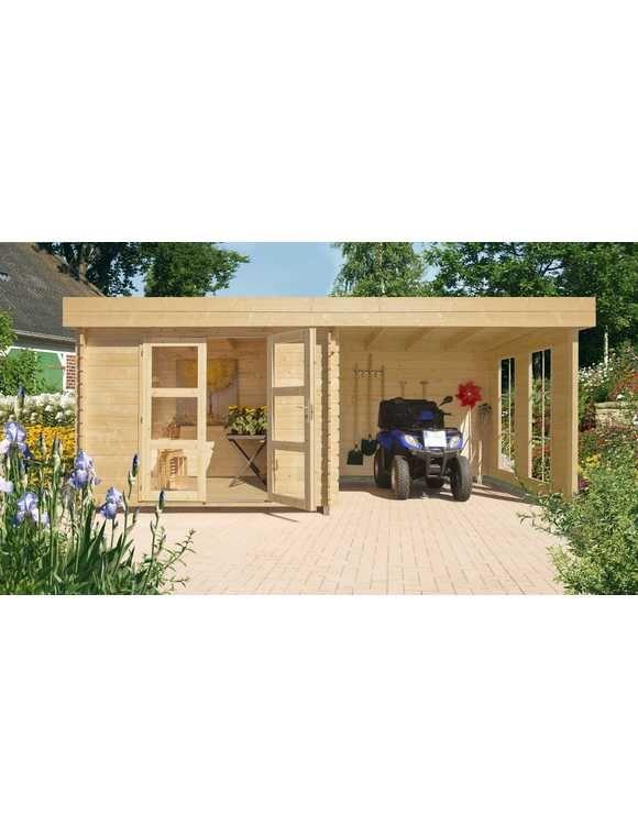 LUOMAN Set Gartenhaus »Lillevilla 483 EcoLounge«, BxT