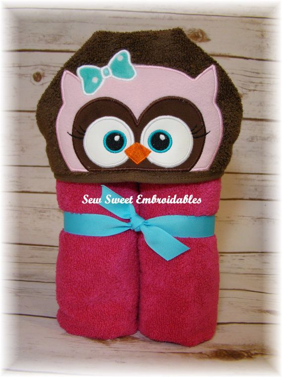 Hey, I found this really awesome Etsy listing at https://www.etsy.com/listing/247156262/pink-owlhooded-toweltowel-setchilds