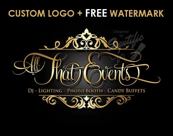 Custom Events Planning Logo Free Watermark Free Psd Source Etsy Event Planning Business Logo Event Planning Logo Business Logo Design