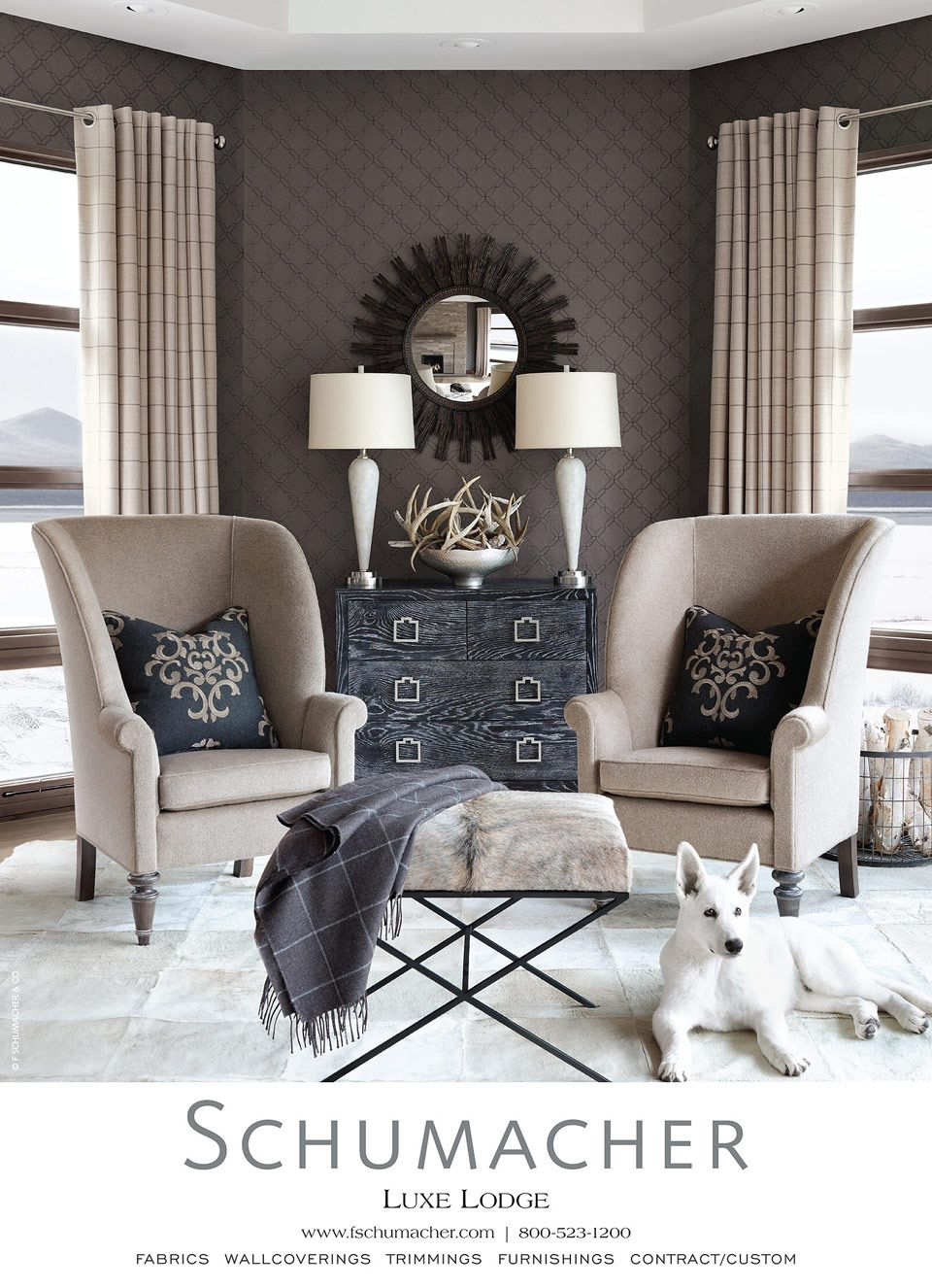 Schumacher elegant neutral scheme that could be for Elegant neutral living rooms