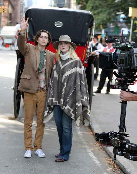 Elle Fanning Photos Photos: Elle Fanning and Woody Allen on Set in ...