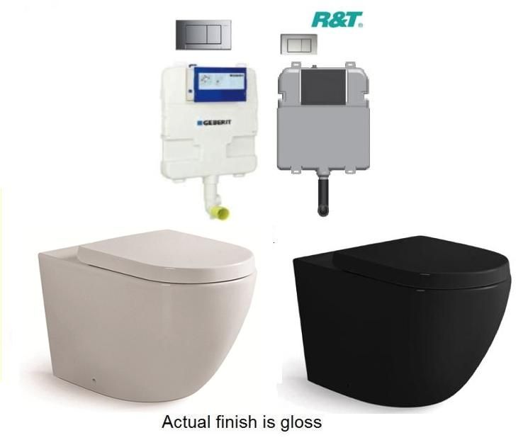 Differenza Tra En Suite E Bathroom: Black Or White Koko In Wall Cistern Wall Faced Toilet