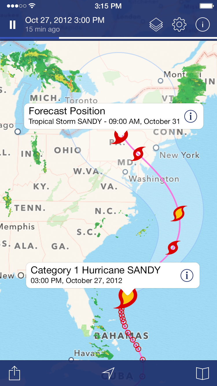 Hurricane Tracker For Ipad Weather Apps Apps Ios Ios Apps Custom Graphics Ipad