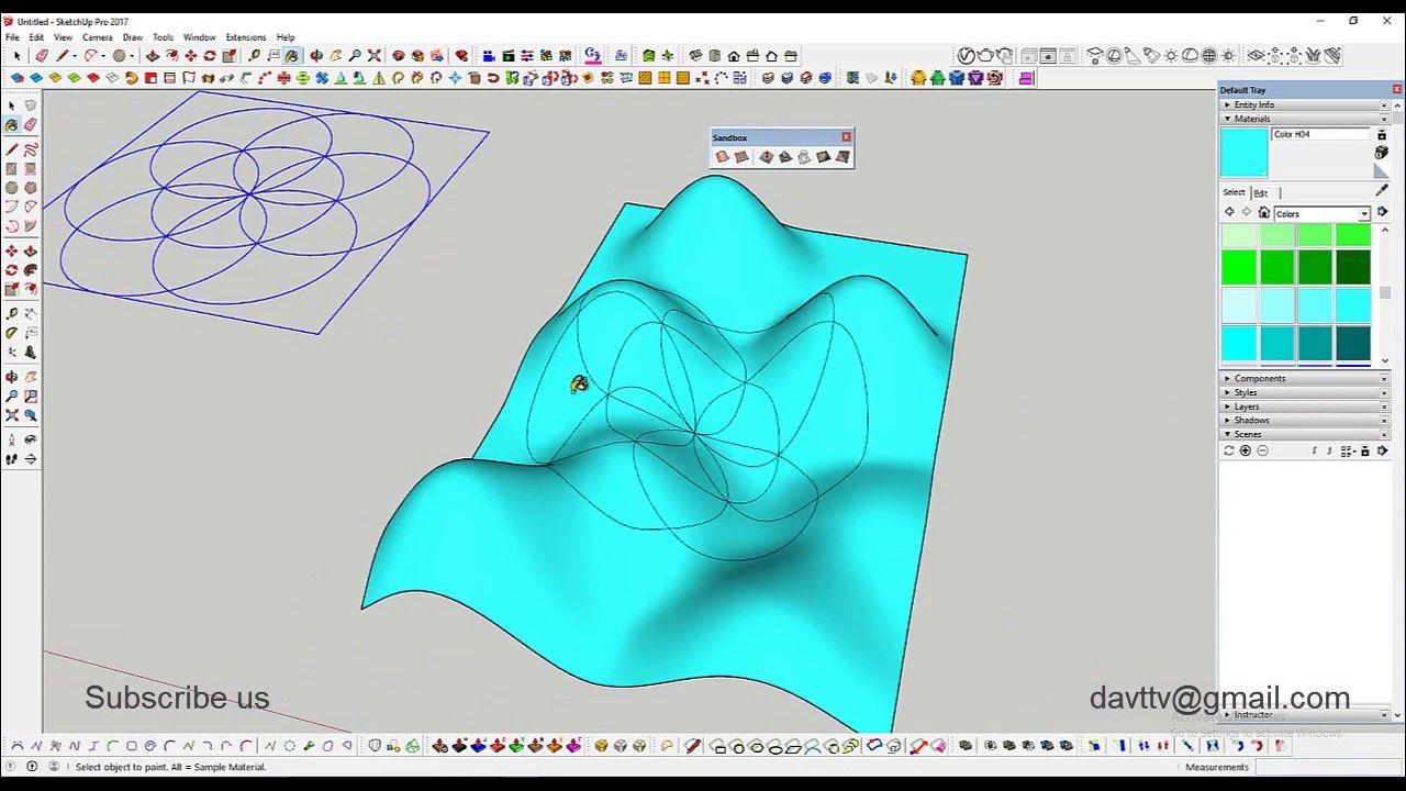 Sketchup Sandbox Tutorial Sandbox Tutorial