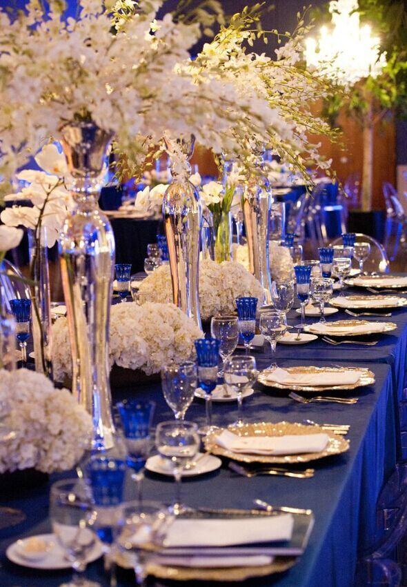 royal blue and silver wedding centerpieces%0A    of the Best Colors Matching Royal Blue