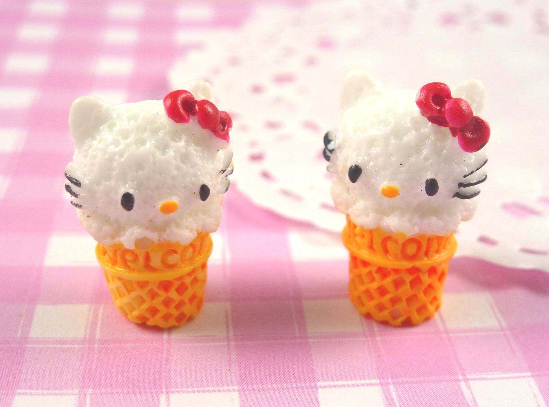 ice cream cone. kitty