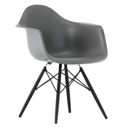 Vitra Eames Plastic Armchair Daw Ahorn Gelblich Weiss Filzgleiter Weiss Eames Daw Stuhl Stuhl Klassiker