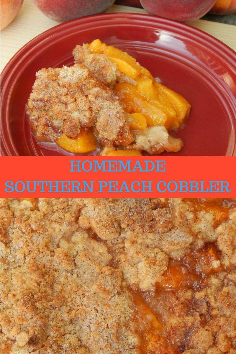 homemade southern peach cobbler #peachcobblerpoundcake