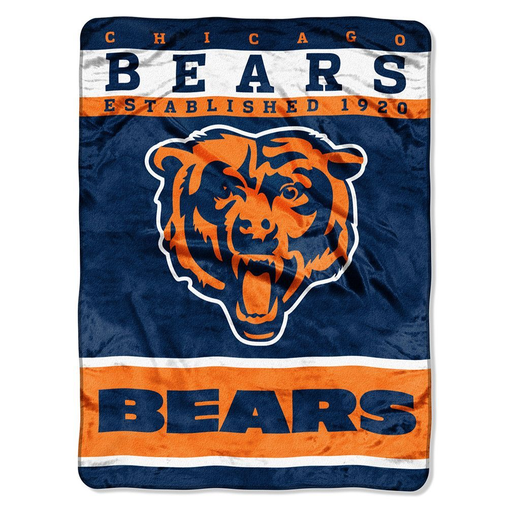 Chicago Bears NFL Royal Plush Raschel 12th Man Series 60in x 80in