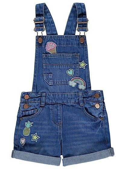 buy cheap store professional sale Badge Detail Dungarees, read reviews and buy online at George at ...