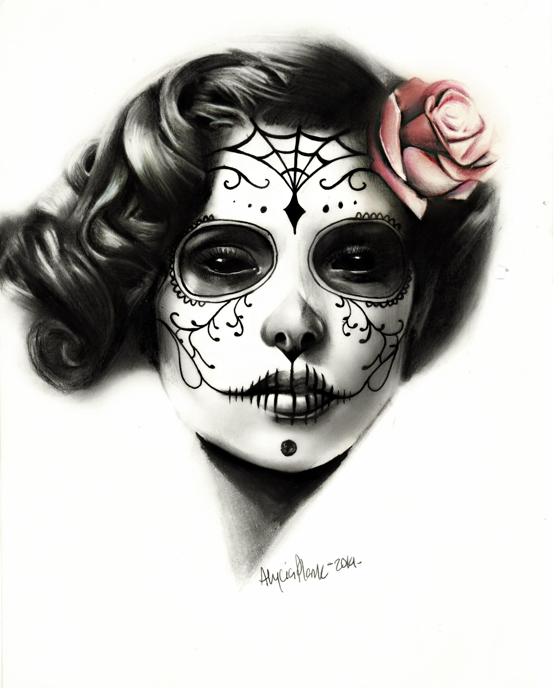 day of the dead girl by on deviantart day of the dead pinterest. Black Bedroom Furniture Sets. Home Design Ideas