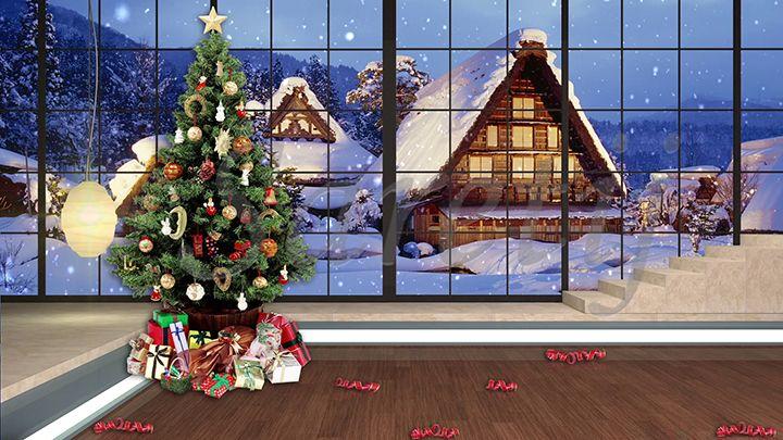 Hd Christmas Tv Virtual Studio Green Screen Background Virtual Studio Green Screen Backgrounds Studio Green
