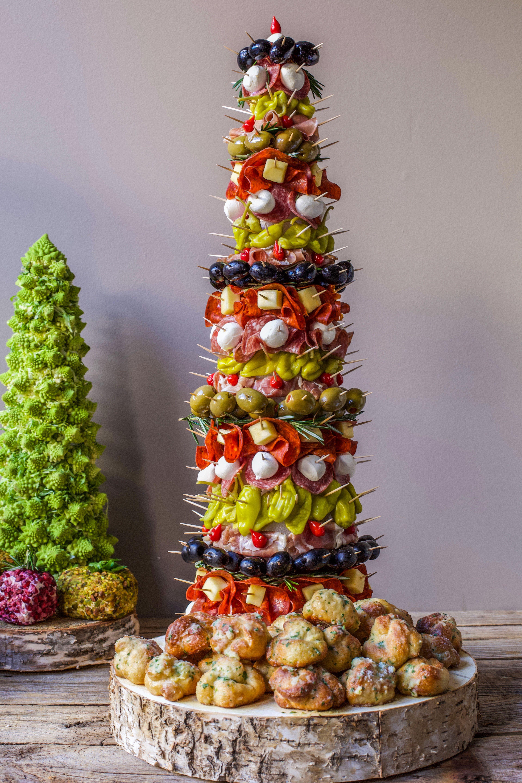 Appetizer Tree Antipasto Tree With Garlic Knots Recipe