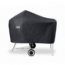 Genuine Weber Cover For 47cm And 57cm Charcoal Kettles With Work Tabkle Fitted With Images Charcoal Grill Weber Grill Cover Vinyl Cover