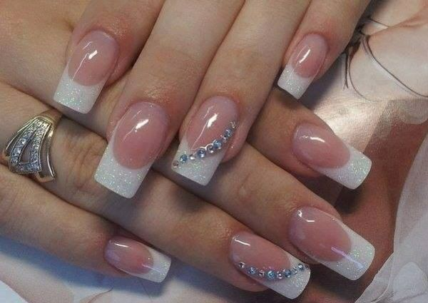 hochzeitsngel french nails muster - Nails Muster