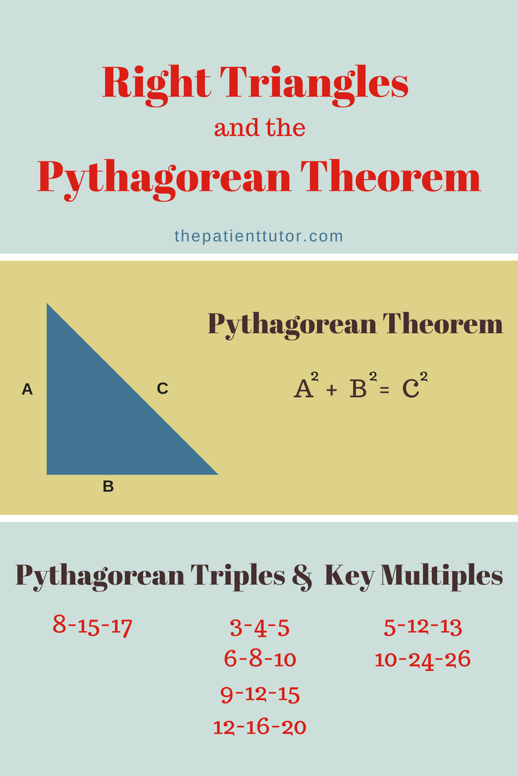 Knowing How To Use The Pythagorean Theorem Is Key To Solving Any Geometry Question Involving Right Triangles Praxis Core Math Praxis Core Middle School Math [ 1102 x 735 Pixel ]