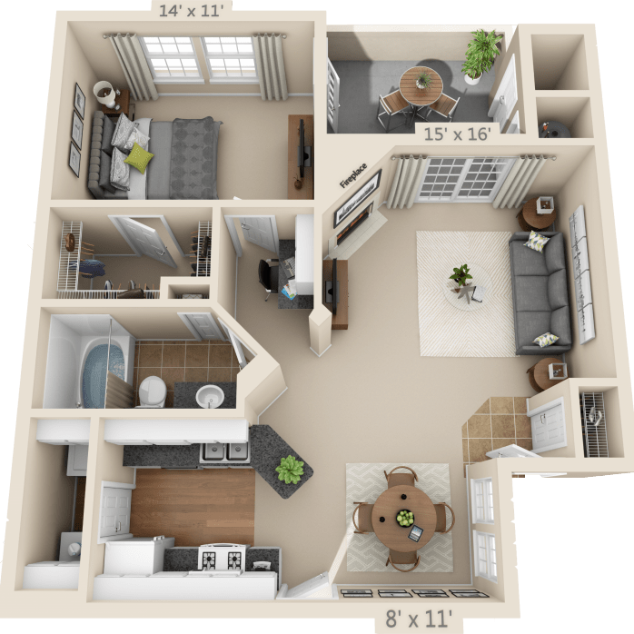1 Bedroom Floor Plan Biltmore Bedroom House Plans Sims House